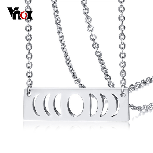 Vnox Triple Goddess Symbol Adjustable Choker Necklace For Women Lady