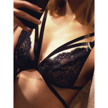 Women Sexy Floral Sheer Lace Triangle Bralette Push Up Bra Crop Top Lingerie Tank Tops Black Sexy Tops Size S-XL