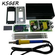 Ulepszona Wersja T12 KSGER STM32 OLED Kontroler 24 v Zasilanie V2.1S Skrzynki Pokrywa Pole Uchwyt Stacja Lutownicza Do Lutowania