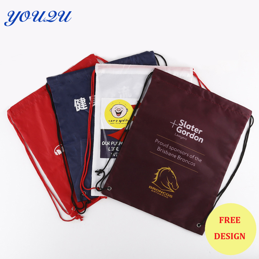Custom drawstring bag string bag polyester drawstring bag best quality lowest price and escrow accepted