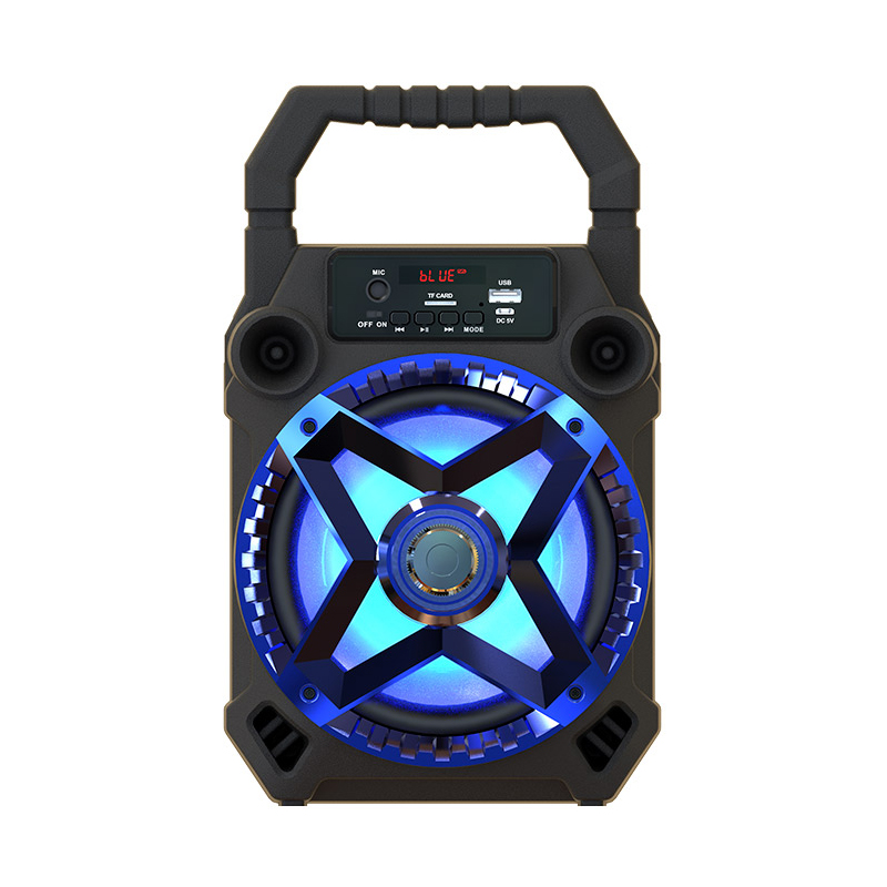 SY1833 Multi functional Wireless Bluetooth Speaker Big Drive Unit Bass Colorful Backlight FM Radio Music Player