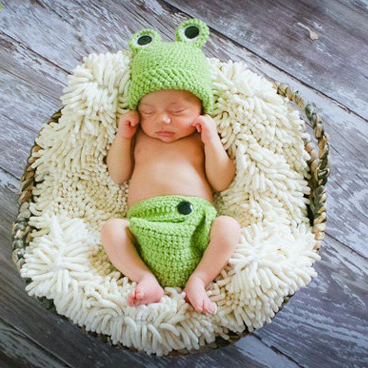 unids sombrero pantalones animal encantador de la rana juego de ropa de beb de