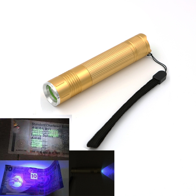 365nm UV flashlight Ultraviolet LED Flashlight Ultra Violet Torch Lamp Blacklight