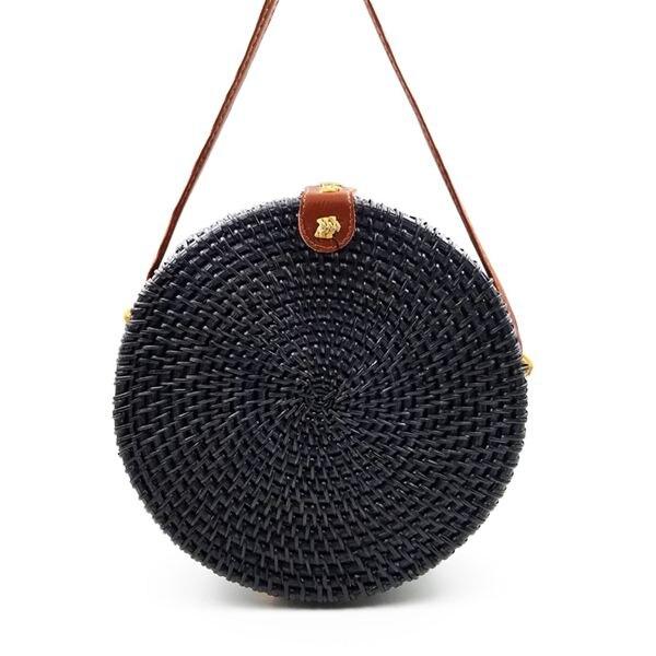 2019 sacos de palha redonda das mulheres