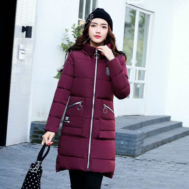 Winter clothes Large size Was thin Long section Wild Cotton coat font b jacket b font