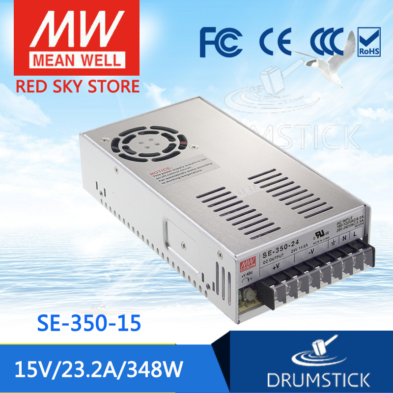 Advantages MEAN WELL original SE-350-15 15V 23.2A meanwell SE-350 15V 348W Single Output Switching Power Supply best selling mean well se 200 15 15v 14a meanwell se 200 15v 210w single output switching power supply