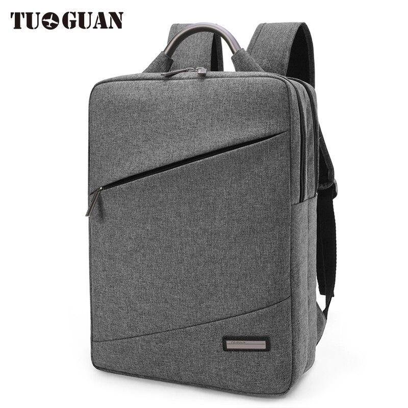 TUGUAN Fashion Men Backpack Business 15.6 inch Laptop Computer Bag Schoolbag College Student Back Pack for Boy Bagpack Male