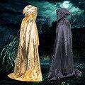 Capa de Anime Cosplay Ropa de Halloween Costume Theater Prop Muerte Capucha Diablo Manto Largo Tippet Cabo Adultos Asistentes Manto