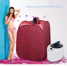 Portable Sauna  Personal Therapeutic Steam Sauna SPA Slim Detox Weight Loss Eu/US Plug