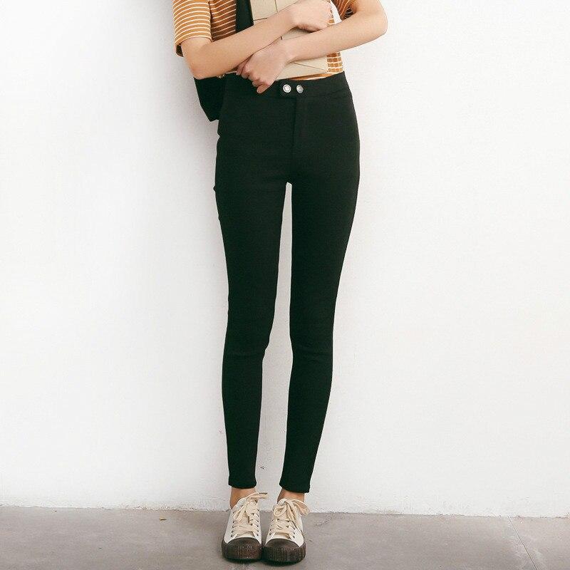 2018 Herfst Nieuwe Broek Negen Punten Dubbele Gesp Leggings Vrouwelijke Vrouwen Kleding Vrouwen Plus Size Leggings