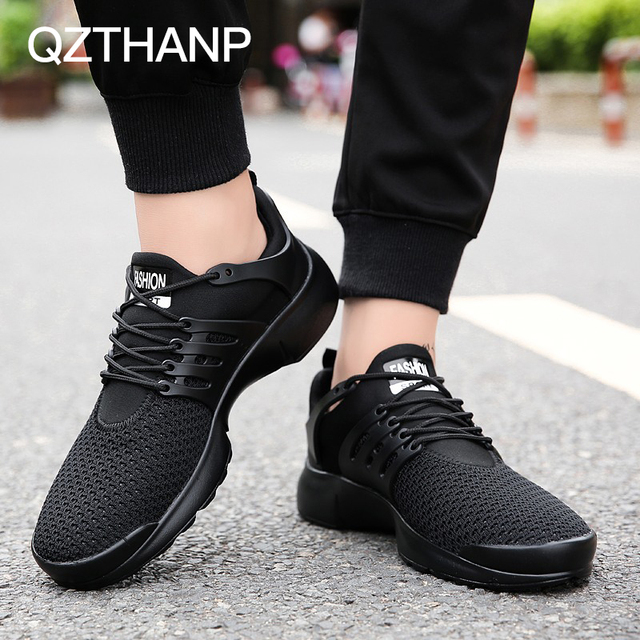 Man Black Casual Shoes Male Breathable Loafers Adult Shoes Krasovki Gympen Tenis  Masculino Adulto Zapatos Hombre Chaussure Homme 93d8118420c9