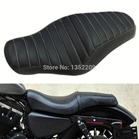Black Driver+Rear Passenger Seat Fits For Harley Sportster 883 48 Iron XL1200 Black New