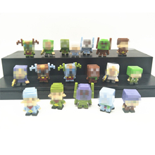 36pcs/lot Minecraft More Mini Characters Hanger Action Figure Toys Cute 3D Minecraft Models Games Blocks Collection Toys Gift #E