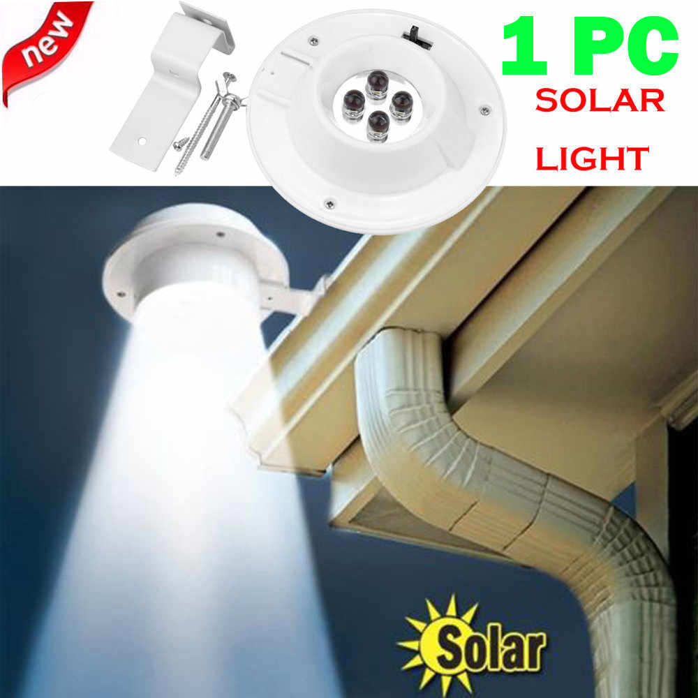 2019 New Arrival 4 LED Solar light Home Garden Solar Powered Wall Lights Gutter Light Outdoor Yard Wall Fence Pathway Lamp#sw