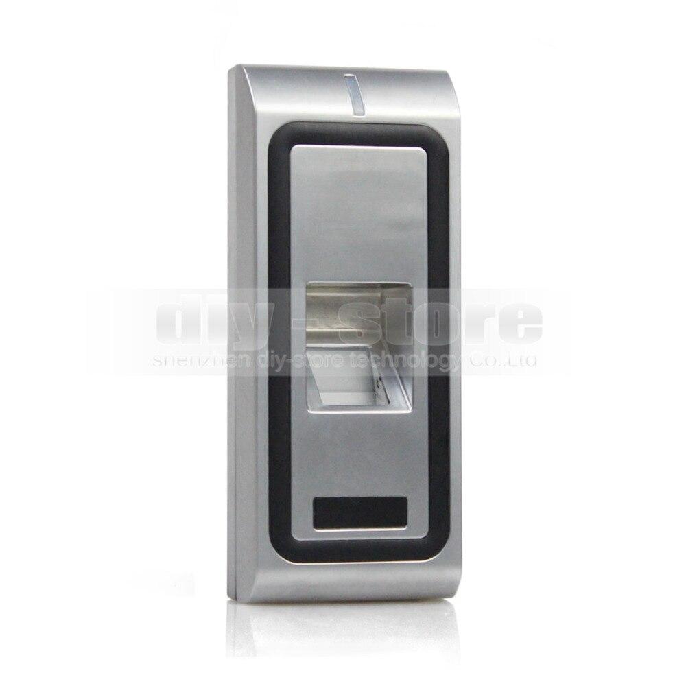 DIYSECUR boîtier en métal empreinte digitale 125 KHz RFID lecteur de carte d'identité clavier 2 en 1 + télécommande serrure de porte Kit de contrôleur d'accès CFR10