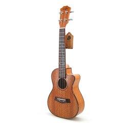 SevenAngel 23 pouces Concert ukulélé acajou manquant Angle ukelelehawian 4 cordes Mini guitare électrique Uku avec ramassage EQ
