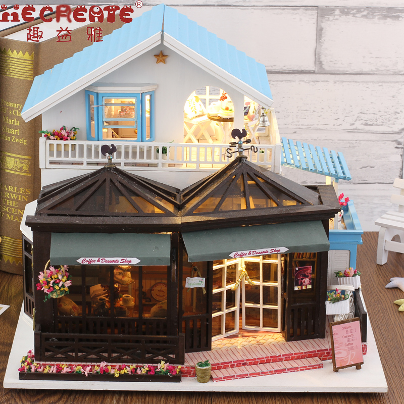 Wooden House The Carving time Toys For Children Birthday Gift Doll House Miniature DIY Dollhouse With Furnitures Kids Gifts cutebee doll house miniature diy dollhouse with furnitures wooden house perfect conjugal toys for children birthday gift k013