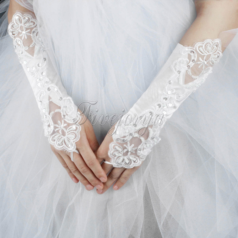 Wedding Gloves Bride White Lace Beaded Fashion Bridal Dress Glove Accesories In Party Diy Decorations From Home Garden On