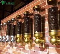 aluminium alloy &acrylic 1800g coffee bean dispenser/coffee bean container stand/coffee bean canister/suspension sealed jar