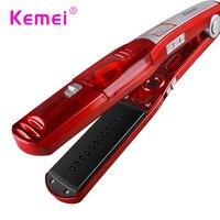 KM3011 Kemei Automatic Straight Hair Brush Temperature Display Fast Hair Straightener Tools Steam Comb Straightening Hair