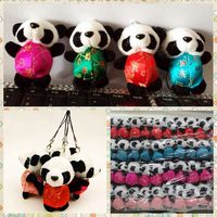 Free Shipping Panda Plush Toys Keychains In Chinese Traditional Tang Suits Kung Warm Stuffed Animals Fu