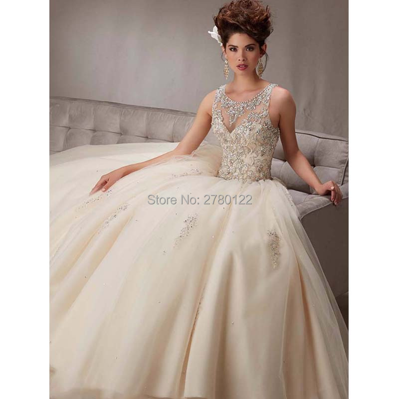 Vestidos de 15 Anos Ball Gown Quinceanera Dresses Bead Bodice Blue Sweet 16 Dresses 2016 Cheap Quinceanera Gowns Debutante Gown
