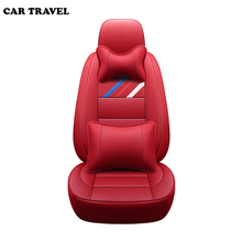 цена на Genuine Leather auto custom car seat cover For vw golf 4 5 VOLKSWAGEN polo 6r 9n passat b5 b6 b7 Touareg Tiguan auto accessories