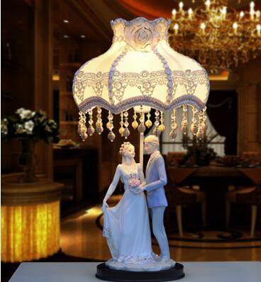 Лампа спальня ночники. Европейский свадебный подарок. Брак комнате. Древняя керамическая настольная лампа