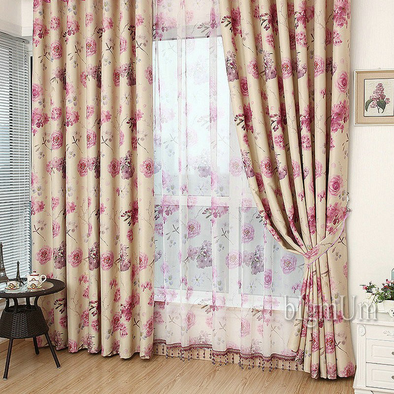 Wholesale Ready Made Curtains Custom Luxury For Living Room JacquardPrinted Blackout Double Sided Pattern In From Home Garden On