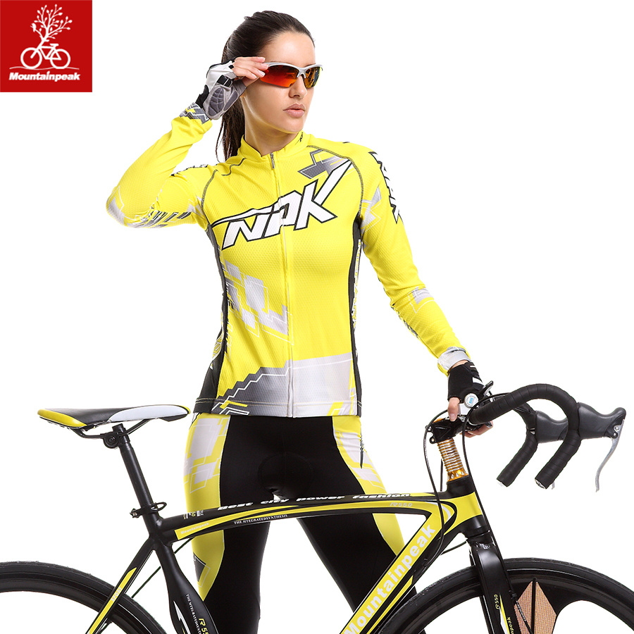 Mountainpeak 2017 Jersey Spring/summer Suits for Men and Women Long Sleeve Cycling Wear Breathable Sun Riding Pants