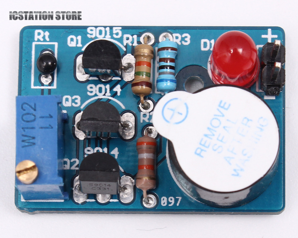 ICSK061A DIY Kit Electronic Temperature Control Sound Light Alarm Suite free shipping and low temperature alarm 634f 220v electron temperature alarm sound and light alarm thermostats