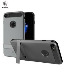 Baseus iBracket Kickstand Чехол Для iPhone 7/7 Плюс Магнитное держатель Телефона Случаях PC + ТПУ 60 Градусов Стойки Крышка Для iPhone7