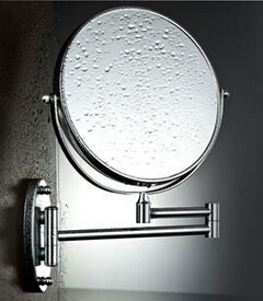 De acero inoxidable de pared espejo plegable espejo de doble cara espejo de maquillaje baño retráctil espejo de pared