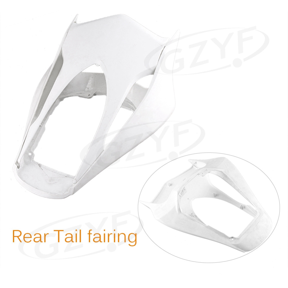 Unpainted Motorcycle Plastic Tail Rear Fairing for Yamaha 2003 2004 YZF 600 R6, ABS Plastic