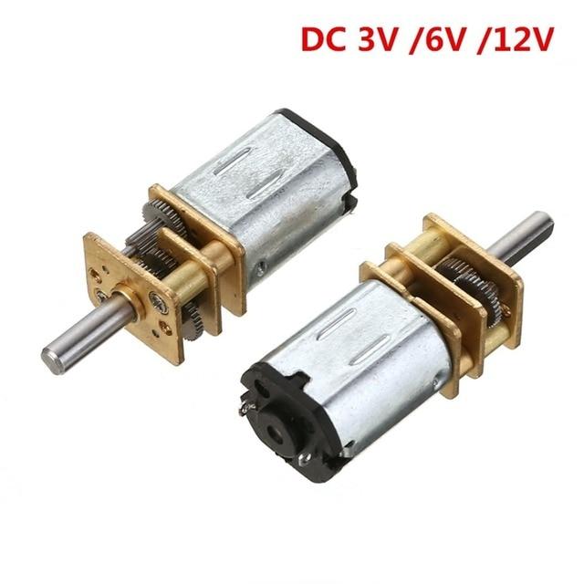 Mini N20 Micro Geschwindigkeit Getriebe Motor Minderer Motor DC 3 V 6 V 12 V Reduktion Motor 15/30 /50/100/200/300/500/100 0 RPM für Auto Roboter Modell