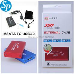 """2,5 """"2,5 дюймовый корпус HDD USB 3,0 жесткий диск MSATA внешний жесткий диск корпус, до 6 ГБ/сек. dropshipping Оптовая"""