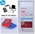 """2.5 """"2.5 pulgadas HDD Case MSATA USB 3.0 Unidad de Disco Duro hdd Caja de Almacenamiento Externo, hasta 6 Gb/s dropshipping Al Por Mayor"""