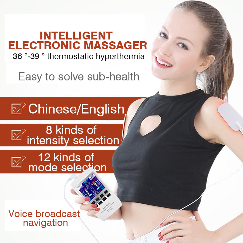 Charging Household Multi-Function Electric Massage Cupping Acupuncture Dual  Frequency Selection  Physiotherapy Instrument cukyi household electric multi function cooker 220v stainless steel colorful stew cook steam machine 5 in 1