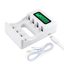 PALO Intelligent LCD display Smart Battery Charger USB charger for AA AAA NI-MH NI-CD Rechargerable batteries