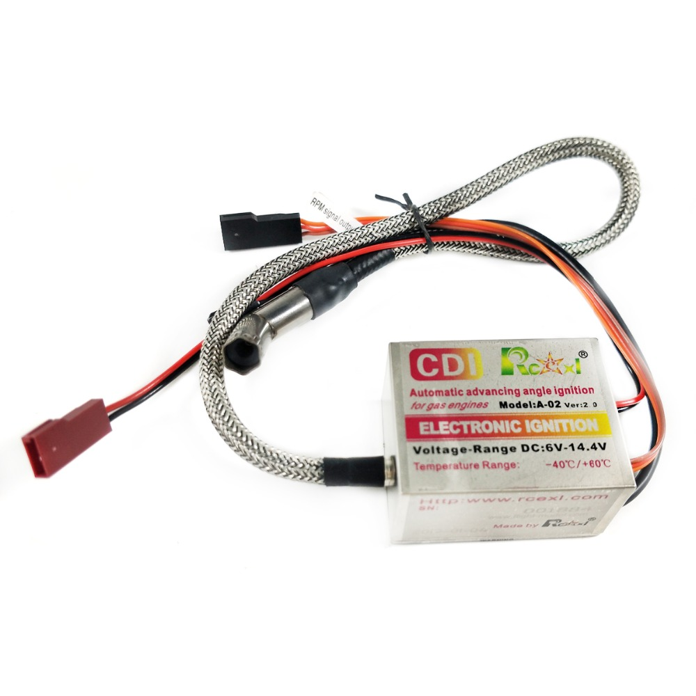 Rcexl Single Cylinder CDI Ignition For ME8 1 4 32 Spark Plug 120 Degree With Universal