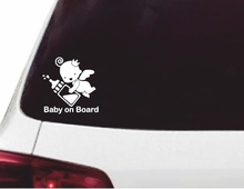 Baby On Board Checkered Flags Windshield Sticker Car Window Vinyl Decal All Sizes