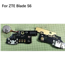 2PCS Original for ZTE Blade S6 Prime  Micro usb charging charger Connector FLEX CABLE port Board for ZTE Blade S 6 Prime chenghaoran 1pcs for zte blade l2 s6 5 0 u807 n983 n807 u956 n5 n909 n798 n980 micro mini usb connector socket charging port