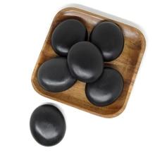 6x7cm Spa hot Stone Beauty Stones Massage Lava Natural Hot Relieve Stress RELAX jade massage set toe