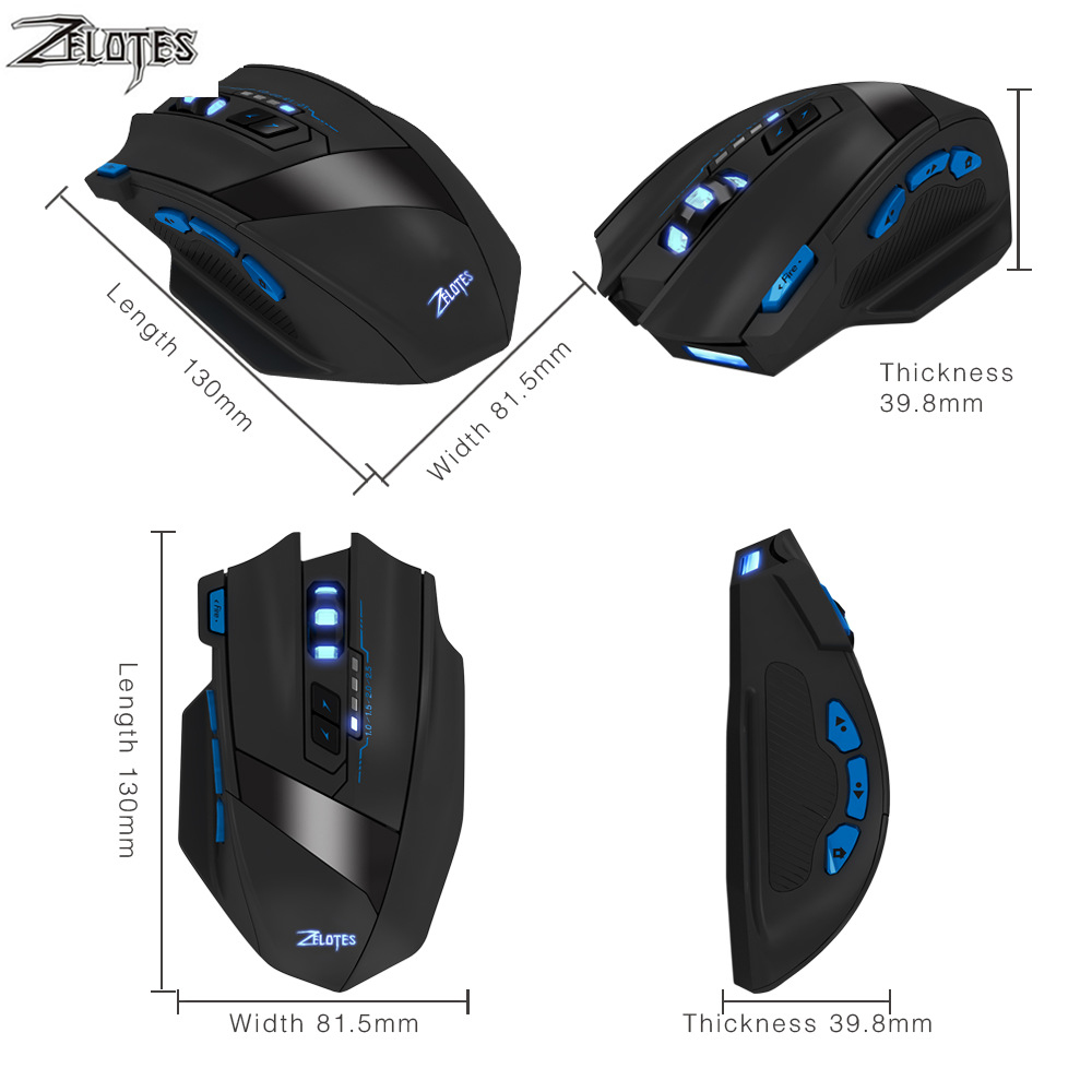 Image 3 - ZEALOT F 15 hot sale Original Dual mode Gaming Mouse 2500 DPI With Wireless Adjustable DPI-in Mice from Computer & Office