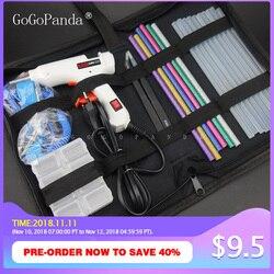 Free Shipping 6 IN 1 Glue Gun Set Electric Heat Hot Melt Crafts Repair Tool Professional DIY 110-240V 20W with Sticks