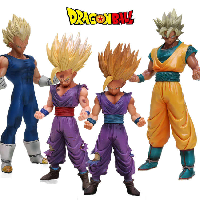 20-30CM MSP Dragon Ball Z Super Saiyan Son GoKou Son Gohan Vegeta PVC Action Figure Master Stars Piece Collection Model Dolls