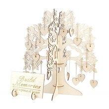 Гостевая книга знак Свадебные гостевые книги дерево деревянные сердца кулон Висячие украшения вечерние свадебные Гостевая книга 19May28 P30