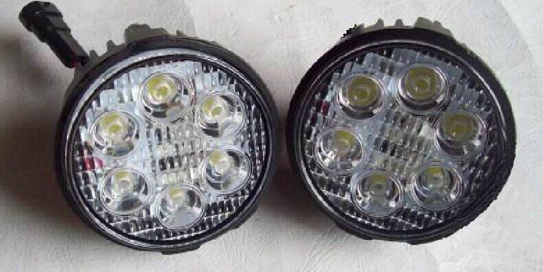 LDDCZENGHUITEC 307 / 308 дневные ходовые огни DRL, светодиодные противотуманные фары