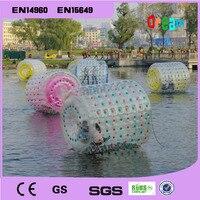 Бесплатная доставка 2,2 м ПВХ надувной валик для плавания мяч воды Прогулки мяч надувной шар водяной цилиндр
