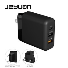 JZYuan Quick Charge 3.0 30W QC USB Charger for iPhone Wall Fast Travel Samsung S8 S9 Xiaomi